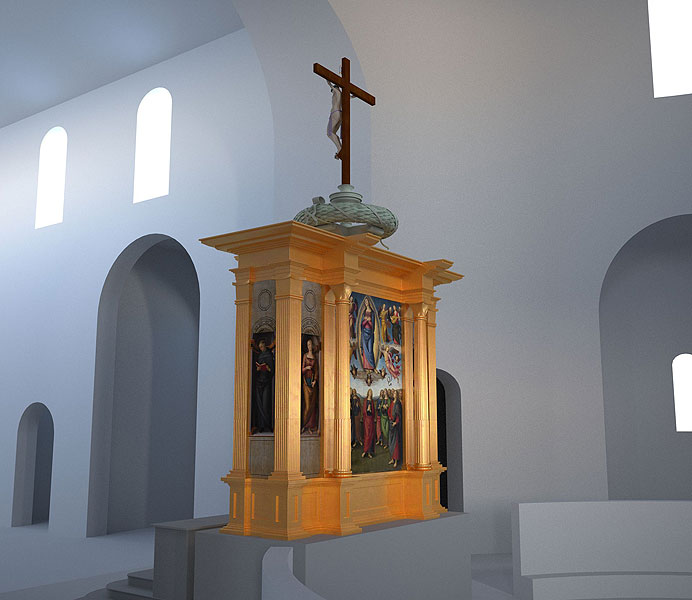 LSOD visualisiert Altar für das Lindenau-Museum  in Altenburg